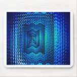 Digital blue multiple image mousemat