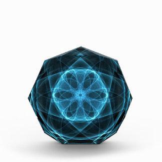 DIGITAL BLUEBELL FLOWER ART ABSTRACT RANDOM BLACK ACRYLIC AWARD