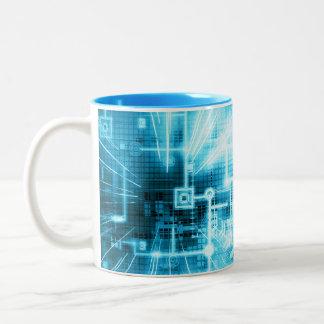 Digital Brainstorm Two-Tone Coffee Mug
