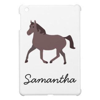 Digital Brown Horse Illustration iPad Mini Cases