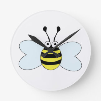 Digital Bumblebee Round Clock