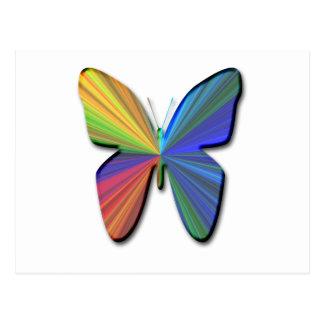 Digital butterfly postcard