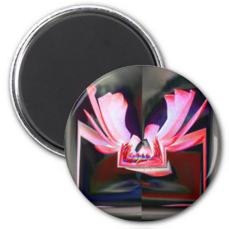 Digital Buttterfly 2 Inch Round Magnet