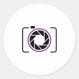 Digital Camera Classic Round Sticker