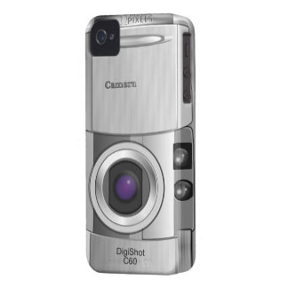 Digital camera style custom Case-Mate blackberry case
