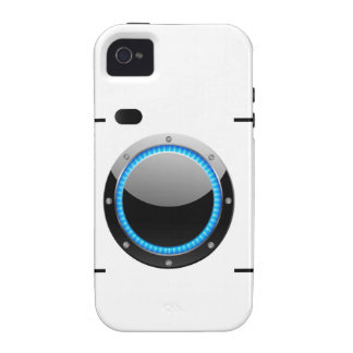 Digital camera with a blue aperture iPhone 4/4S cases