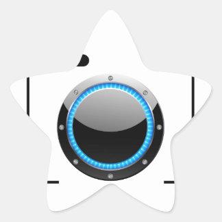 Digital camera with a blue aperture star sticker