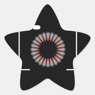 Digital camera with a floral aperture star sticker