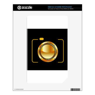 Digital camera with a golden aperture skins for the NOOK color