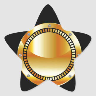 Digital camera with a golden aperture star sticker
