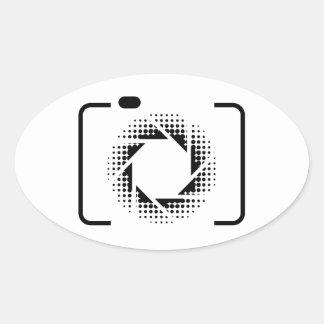 Digital camera with a pattern aperture oval sticker