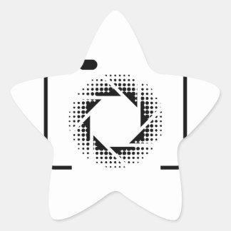 Digital camera with a pattern aperture star sticker