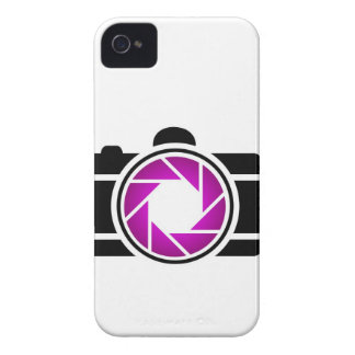 Digital camera with a purple aperture iPhone 4 covers