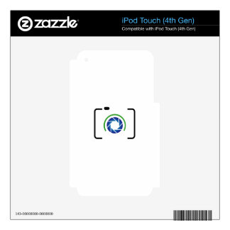 Digital camera with a round aperture decals for iPod touch 4G