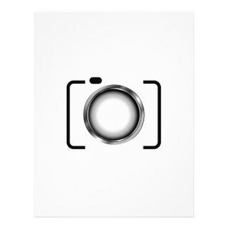 Digital camera with a silver aperture letterhead template