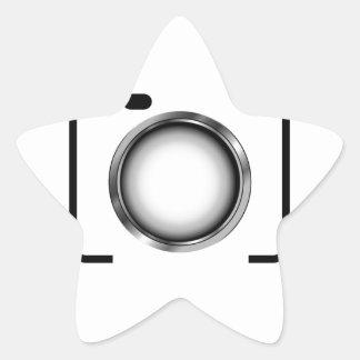 Digital camera with a silver aperture star sticker