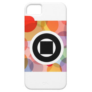 Digital camera with colorful circles iPhone SE/5/5s case