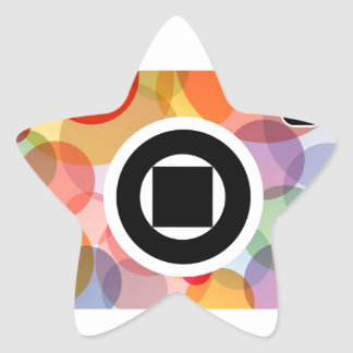 Digital camera with colorful circles star sticker