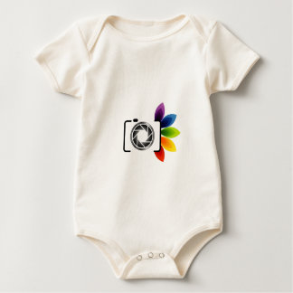 Digital camera with colorful leaves baby bodysuit