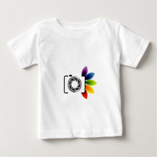 Digital camera with colorful leaves baby T-Shirt
