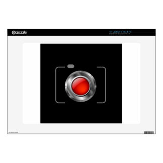 """Digital camera with red aperture 15"""" laptop decal"""