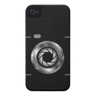 Digital camera with silver aperture iPhone 4 cover
