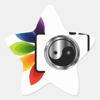 Digital Camera with ying yang symbol Star Sticker