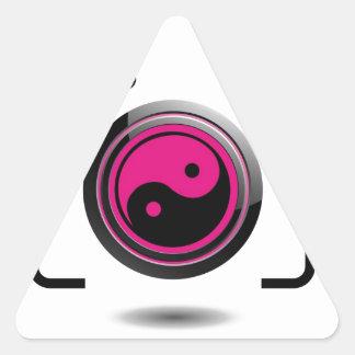 Digital Camera with ying yang symbol Triangle Sticker