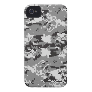 Digital camo Black white and grey iPhone 4 Case-Mate Case