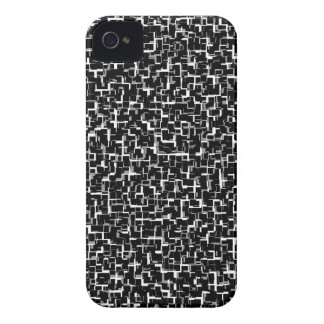 Digital Camo Black White Yellow Pattern Case-Mate iPhone 4 Case