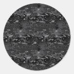 Digital Camo Classic Round Sticker