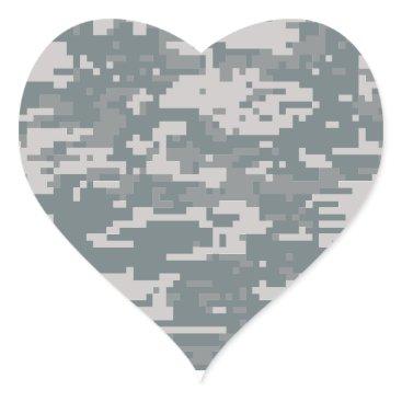 Digital Camo Heart Sticker