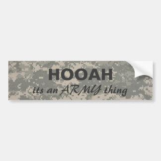 digital camo HOOAH, its an ARMY thing Bumper Stickers