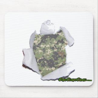 Digital Camo Rip Thru Mouse Pad