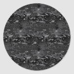 Digital Camo Round Sticker