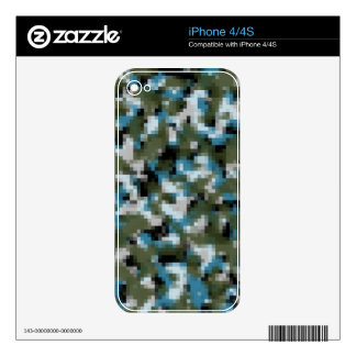 Digital Camo Winter Lake Skin For The iPhone 4S