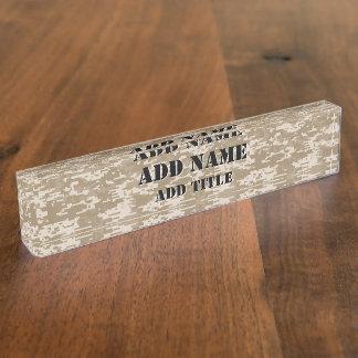 Digital Camouflage Desert Desk Name Plates