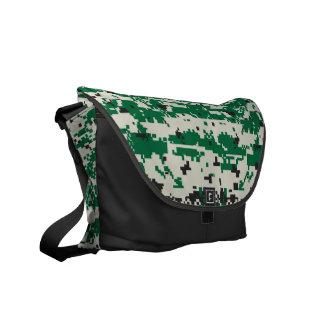 Digital Camouflage Green Messenger Bag