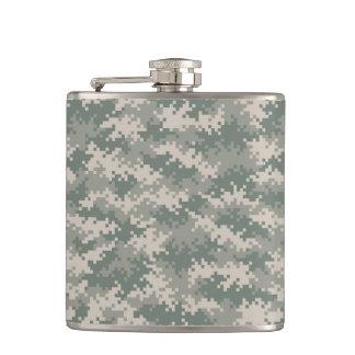 Digital Camouflage Pattern Flask