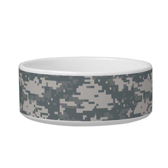 Digital Camouflage Pet Bowl