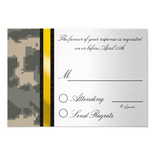 Digital Camouflage Reply Card