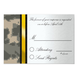 Digital Camouflage Reply Card Custom Announcements