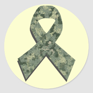 Digital Camouflage Ribbon Sticker