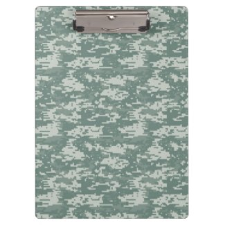 Digital Camouflage Woodland Clipboards