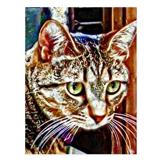 Digital Cat Art Postcard