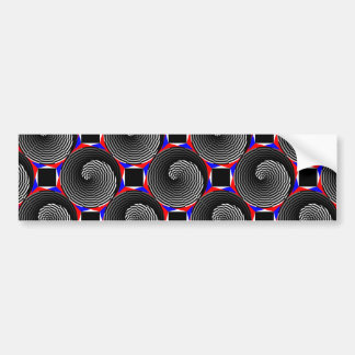 Digital Checker Yin Yang Bumper Sticker