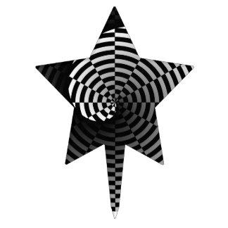 Digital Checker Yin Yang by Kenneth Yoncich Cake Topper