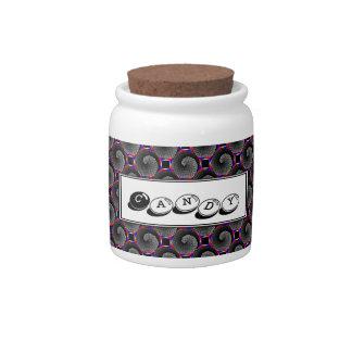 Digital Checker Yin Yang Candy Jar