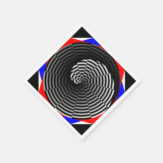 Digital Checker Yin Yang Napkin