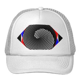 Digital Checker Yin Yang Spiral by Kenneth Yoncich Trucker Hat